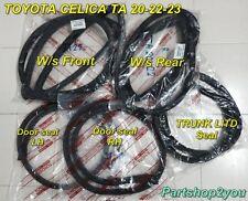 Toyota CELICA TA20 TA22 TA23 RA21 SET winshield seal & door weather strip 5 pcs