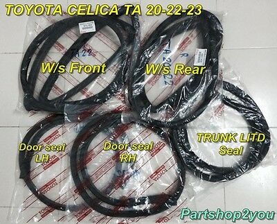 Toyota CELICA TA20 TA22 TA23 RA21 SET winshield seal /& door weather strip 5 pcs