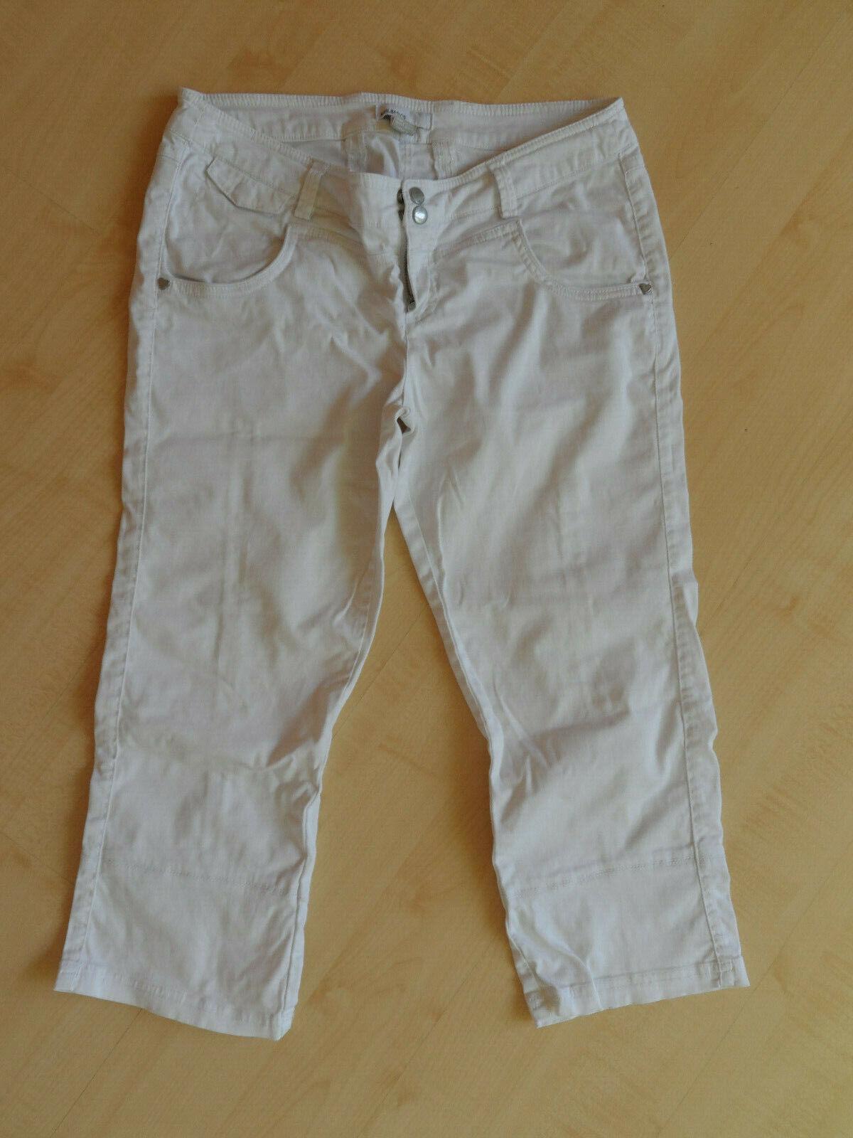 MBG Basics weiße 3/4 Hose, Gr. 40