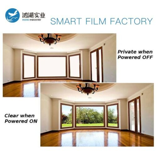 Sample Smart Film Electrochromic Privacy PDLC Switchable Film 30.48cmx15.24cm