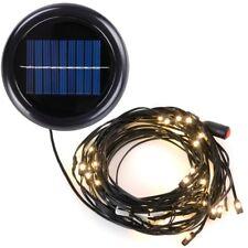 8 9 8 Ribs Patio Umbrella Aluminum LED String Light Only Decor Yard Solar