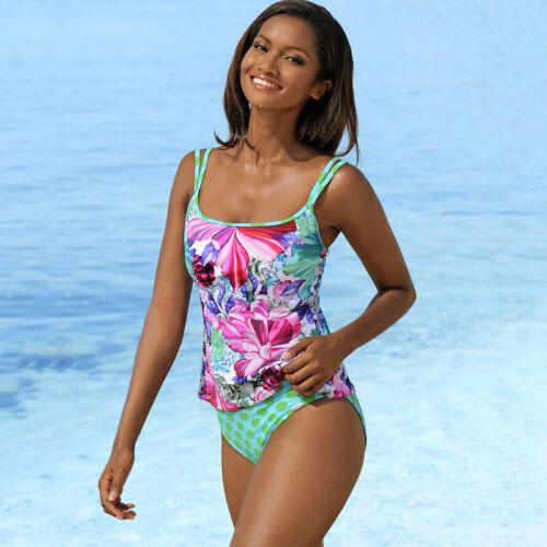 Women Ruffle Tankini Set Bikini Boy Shorts Sporty Swimsuit Swimwear Bathing Suit