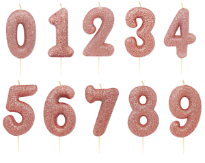 Image Is Loading New Rose Gold Gliter Candle Cake Topper Birthday