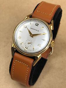 Westfield-Vintage-Manual-Winding-Swiss-Wrist-watch-w-Fancy-Lugs-ca-1950s