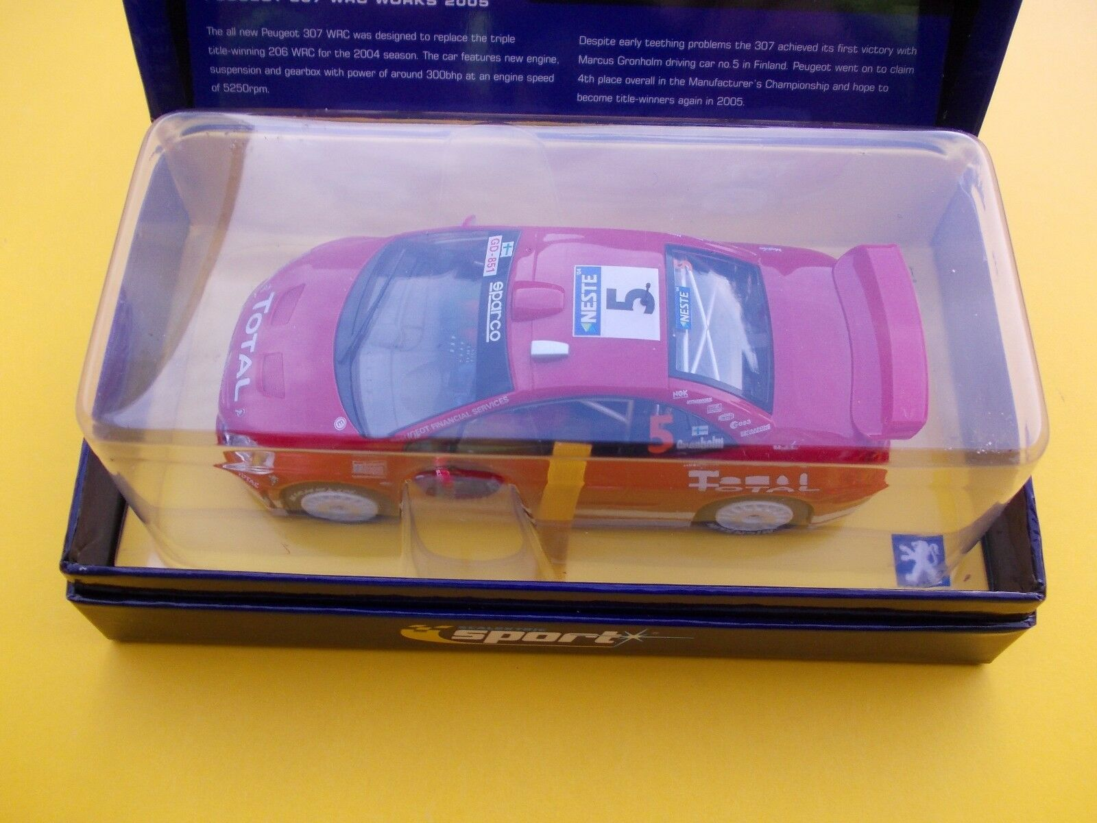VINTAGE SCALEXTRIC C 2560A PEUGEOT 307 L ED MINT BOXED  BRAND NEW  PERFECT