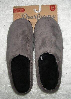 Dearfoams Men/'s Memory Foam Slippers Indoor Outdoor BLACK New Pick Size