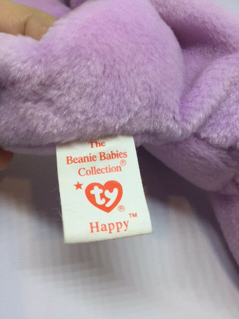 Retired TY beanie baby Happy the Hippo Tag Tag Tag Errors 1993 49e837