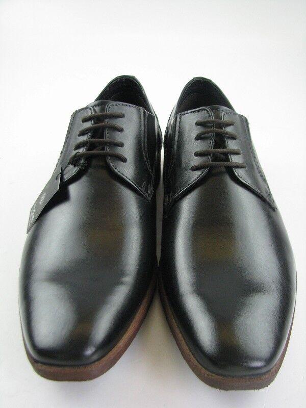 Bugatti caballeros 313-15902-1000 Business negro de cuero en gr40