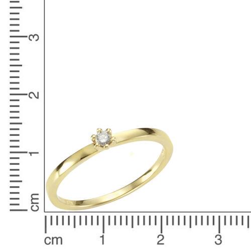 Orolino Ring Cocktailring 750 Gold gelb Diamant Brillant glanz poliert Damen NEU