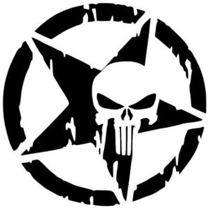 Pentagram Decal Punisher Skull Blood Vinyl Car Decals Stickers - Stickers on motorcycles