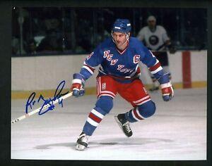 New York  Rangers legendary Captain Ron Greschner autographed 8x10 action photo Hockey-NHL