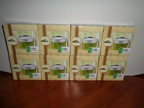 96 Kerr Wide Mouth Lids Lot of 8 Boxes 12 Count New /& Sealed