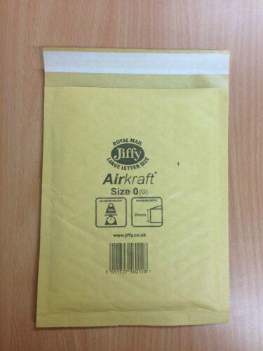 "500 JL00 vera e propria /""ORO/"" AIRKRAFT Jiffy BAGS 115 x 195 mm GRATIS 24H"