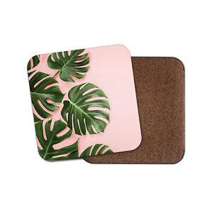 Rosa Flamingo Coaster-Hibiscus Flor Mamá Tía Hermana Niñas Lindo Regalo #13214