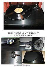 REGA Planar 2 & 3 nuovo utente manuale