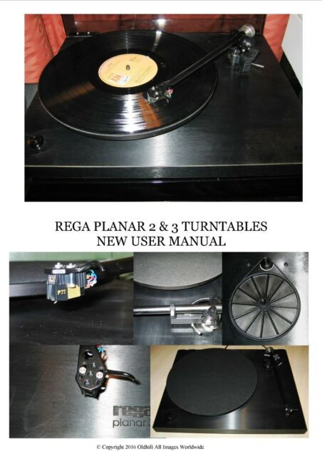 REGA PLANAR 2 & 3 New User Manual
