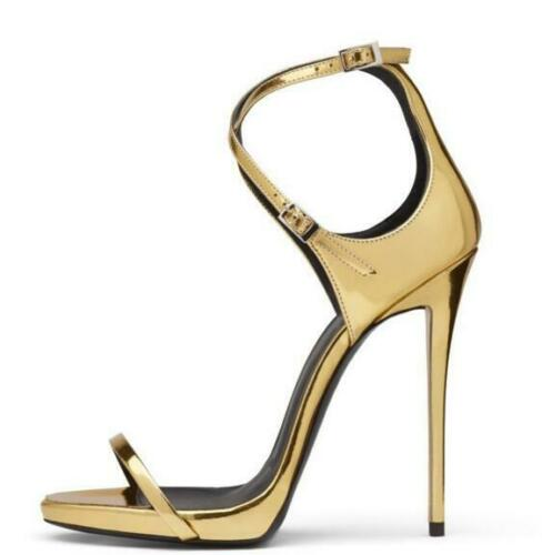 Details about  /Occident Womens Stiletto High Heel Open Toe Party Club Pumps Buckle Sandal Shoes