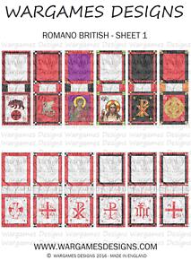 6mm Dark Ages Viking//Saxon Banners DBA Hail Caesar Impetus Sheet 1 FOG