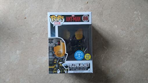 Funko POP  Vinyl U-Bahn Spielsachen Leuchtfarbe gelb Jacke Figur Ant-Man
