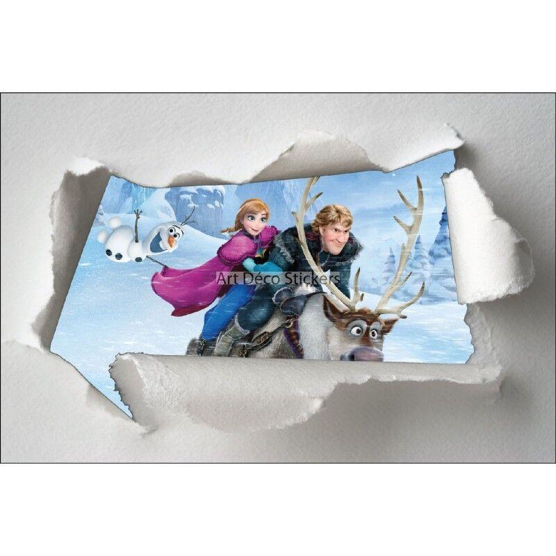 Adesivi bambino bambino bambino carta strappato Frozen la regina delle nevi ref 7621 3caf54