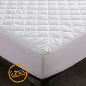 Waterproof-Quilted-Mattress-Cover-Pad-Bed-Bug-Dust-Mite-Hypoallergenic-Protector