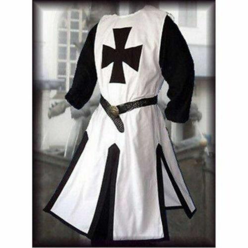 Médiéval Templier Chevalier Croisé Pardessus Tunique Reenactment Cosplay Costume