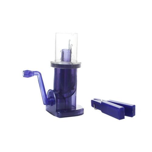 1Set Blau Strickmühle Strickliesel Maschinenstricken Werkzeug 14x9.5cm JO