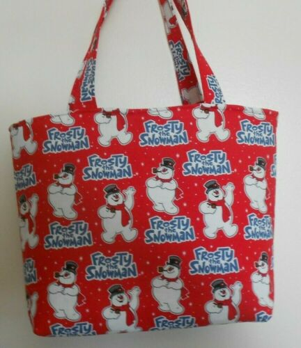 Handmade Christmas Frosty the Snowman Top Hat /& Corn Cob Pipe Tote Purse Bag