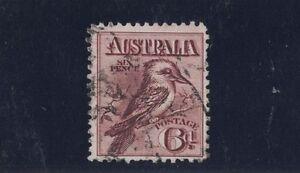 1914-Australia-6d-Kooka-Claret-SG-19-used