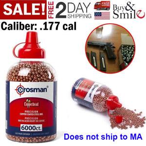 6000-Crosman-Pistol-BBs-Pellets-Airgun-Copper-Metal-BB-Gun-177-Ammo-Cal-4-5mm