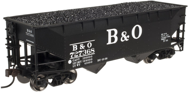 El Atlas Trainman B&O 2-Bay Offset (Plana final) Hopper Coche (3-pk) R-t-r