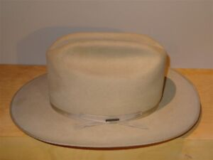 Image is loading Vintage-Stetson-Open-Road-Hat-Size-7-3X- d9b26a8960f