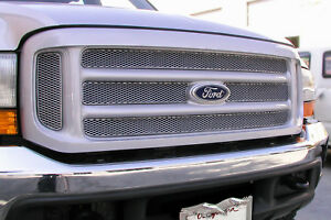 Grille-MX-Upper-6pc-Insert-GRILLCRAFT-FOR1350S-fits-99-04-Ford-F-250-Super-Duty