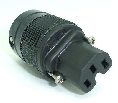 Wattgate 360i-BLK Schuko Black Power Male Plug DIY Power Cord