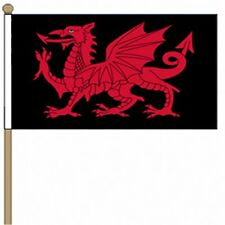 Welsh dragon flag house sign 9301 with your choice of text