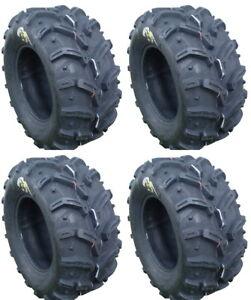 4-Deestone-Swamp-Witch-ATV-Tires-Set-2-Front-26x10-12-amp-2-Rear-26x12-12-D932