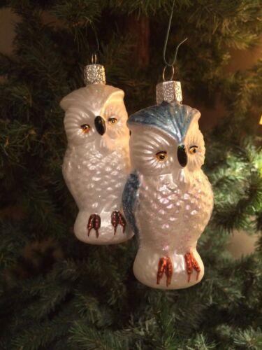 16005 NEW Old World Christmas Ornament *Snowy Owl*