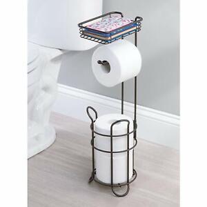 Bronze Free Standing Toilet Paper Holder Floor Stand Shelf Bathroom Accessories Ebay