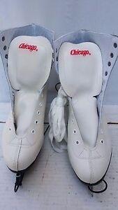 NWT Women's Chicago Ice Hockey Skates Figure Skates White Size US 10