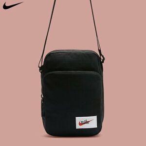 Nike-Heritage-Small-Item-Crossbody-Messenger-Bag-Swoosh-Black-New-BA5809-010