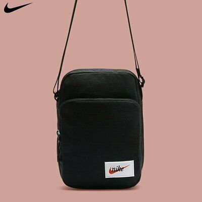 instinto Cerebro Nos vemos  Nike Heritage Small Item Crossbody Messenger Bag Swoosh Black New BA5809-010  | eBay