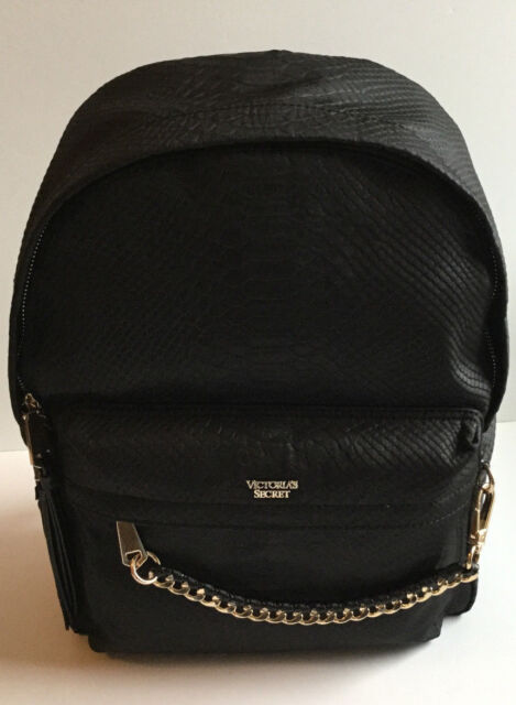 Victoria s Secret Black Python City Limited Edition Backpack With Gold  Hardware d09aa551ce
