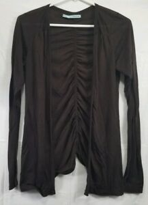 Maurices-Women-039-s-Size-Small-Brown-Open-Front-Cardigan-Long-Sleeve-Gathered-Back