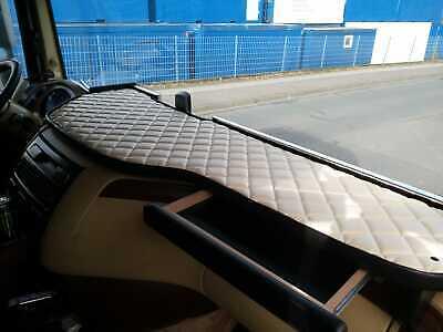 Lkw Tisch für DAF XF 106, Schublade, Kunstleder beige