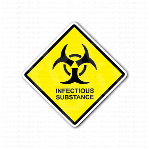 Caution Infectious Substance Toxic Sign Sticker