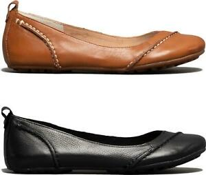 Hush-Puppies-JANESSA-Ladies-Lightweight-Comfort-Leather-Casual-Ballerina-Shoes