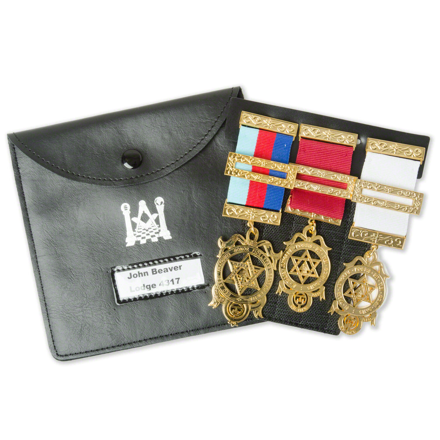 sports shoes b1e3b cd4b9 Details about New Masonic Pocket Jewel Holder and Carry Case / pouch/ Wallet