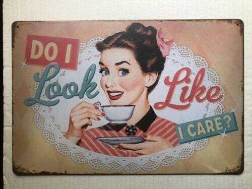 Do I Look Like I Care glacoide cafe pub bar mur garage DECOR 20x30 cm