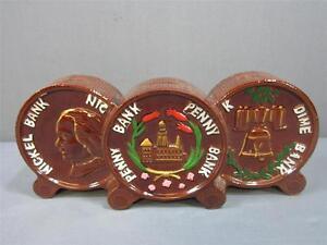 Image Is Loading Vintage Ceramic An Triple Piggy Bank Dime Nickel