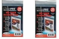 Ultra Pro Resealable One Touch Card Holder Sleeves 200 Count Lot Brand